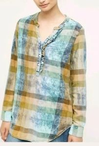 Anthropologie Isabella Sinclair Flannel Tunic Top